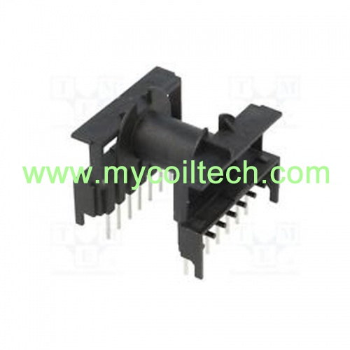 ETD34 Horizontal Electronic Transformer Bobbin with 7+7 Pins